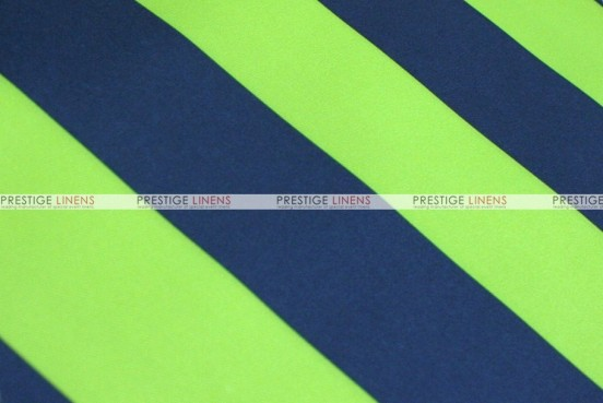 Striped Print Poly - Fabric by the yard - Lime/Navy