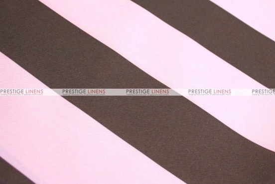 Striped Print Poly - Fabric by the yard - Pink/Brown