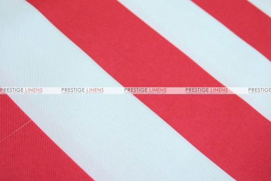 Striped Print Poly - Fabric by the yard - Red