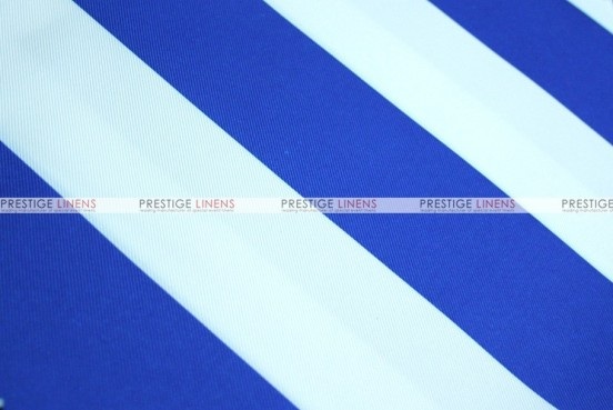 Striped Print Poly - Fabric by the yard - Royal