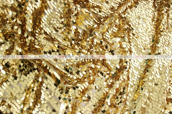 Teardrop Sequins - Fabric by the yard - Gold