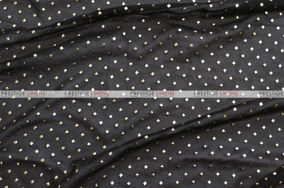 Twilight - Fabric by the yard - Black/Gold