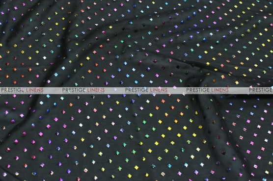 Twilight - Fabric by the yard - Black/Multi