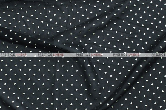 Twilight - Fabric by the yard - Black/Silver