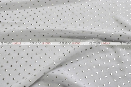 Twilight - Fabric by the yard - White/Silver