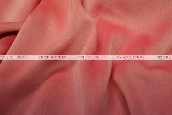 Two Tone Chiffon - Fabric by the yard - Coral/Pink