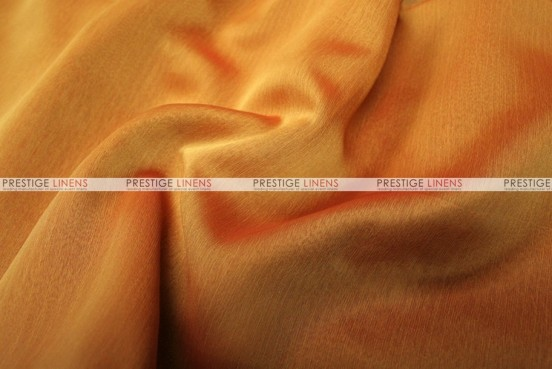 Two Tone Chiffon - Fabric by the yard - Dk Orange