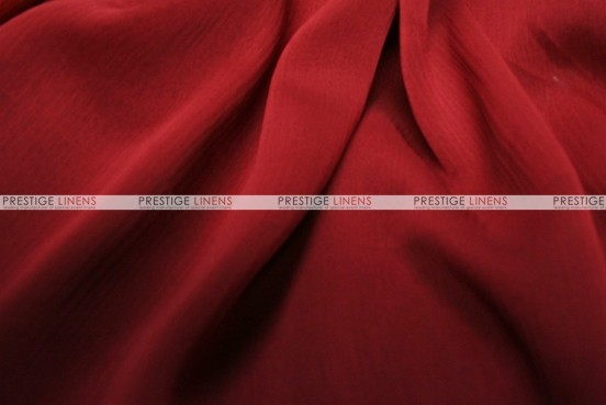 Two Tone Chiffon - Fabric by the yard - Dk Red