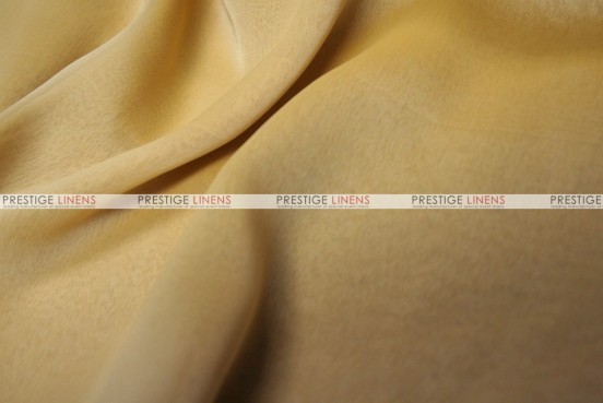 Two Tone Chiffon - Fabric by the yard - Mustard/White