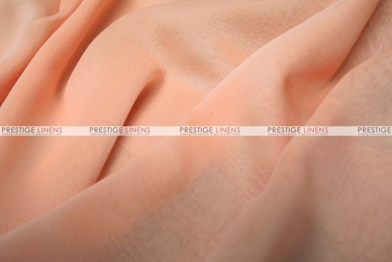 Two Tone Chiffon - Fabric by the yard - Peach