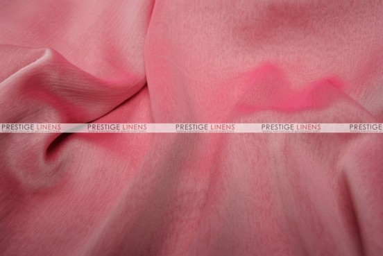 Two Tone Chiffon - Fabric by the yard - White/Fuchsia