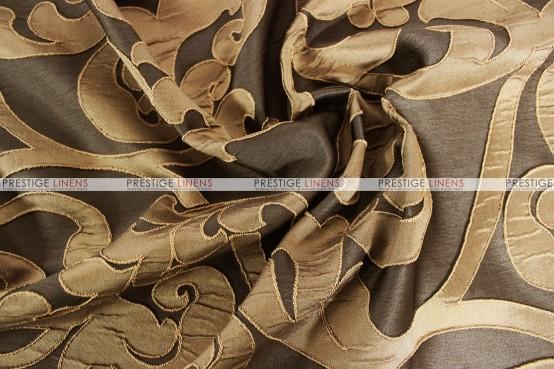 Victorian Damask - Fabric by the yard - Chocolate