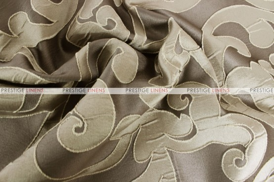 Victorian Damask - Fabric by the yard - Taupe