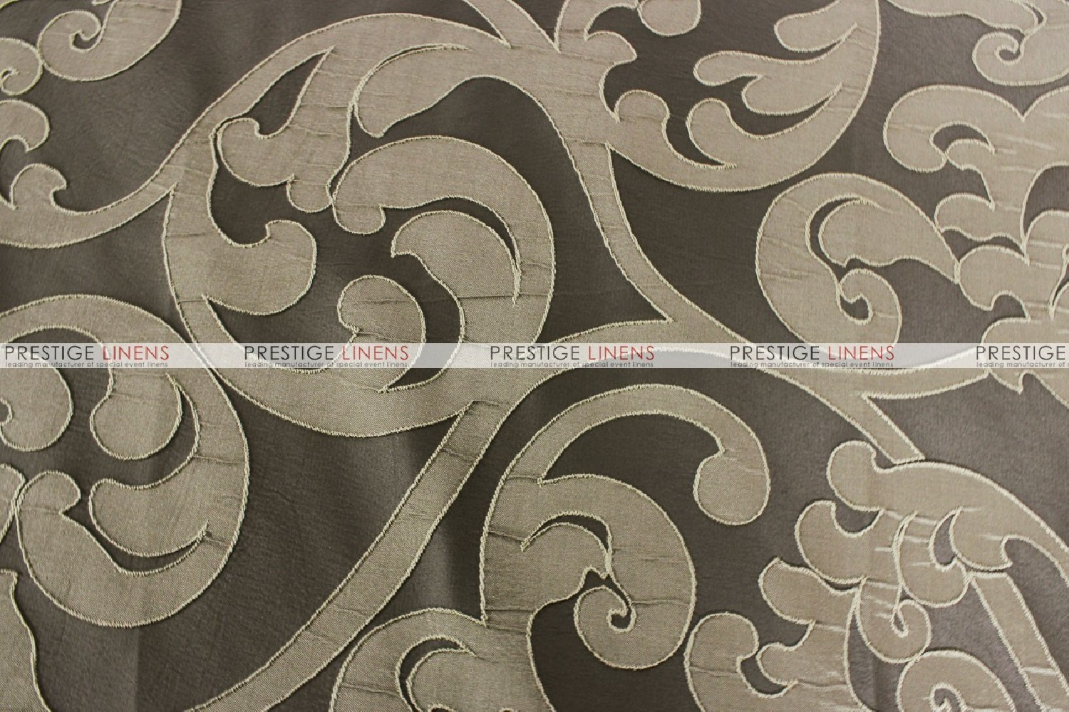 Victorian Damask Fabric By The Yard Taupe Prestige