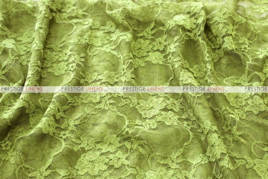 Victorian Stretch Lace - Fabric by the yard - Avocado