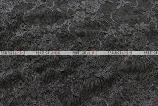 Victorian Stretch Lace - Fabric by the yard - Black
