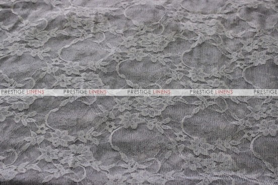 Victorian Stretch Lace - Fabric by the yard - Charcoal