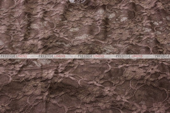 Victorian Stretch Lace - Fabric by the yard - Chocolate