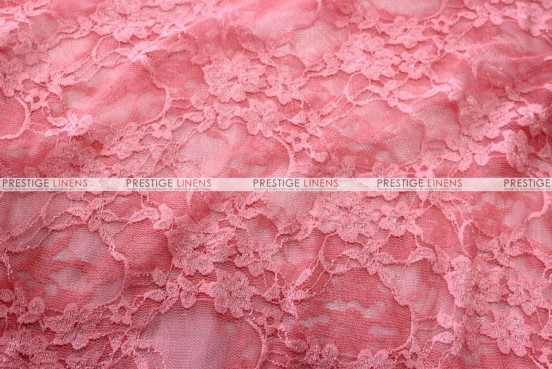 Victorian Stretch Lace - Fabric by the yard - Coral