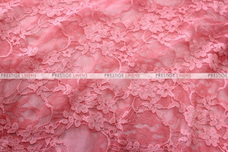 Victorian Stretch Lace Fabric By The Yard Coral