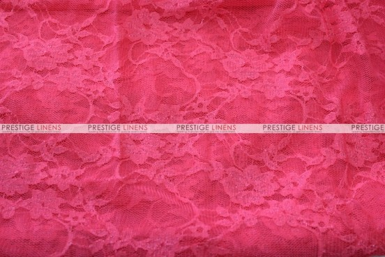 Victorian Stretch Lace - Fabric by the yard - Dk Coral