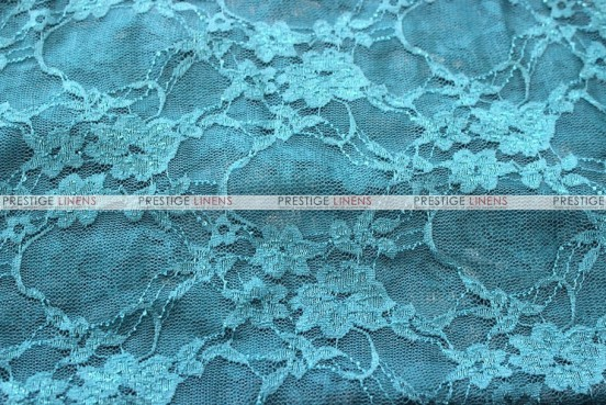 Victorian Stretch Lace - Fabric by the yard - Dk Teal