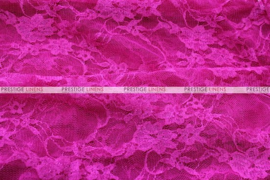 Victorian Stretch Lace - Fabric by the yard - Fuchsia