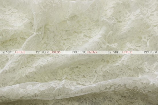Victorian Stretch Lace - Fabric by the yard - Ivory