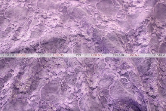 Victorian Stretch Lace - Fabric by the yard - Lilac