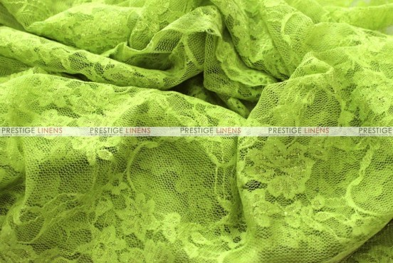 Victorian Stretch Lace - Fabric by the yard - Lime
