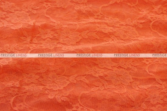 Victorian Stretch Lace - Fabric by the yard - Orange
