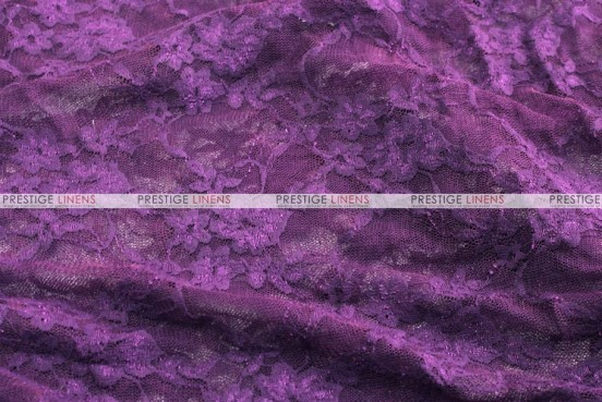 Victorian Stretch Lace - Fabric by the yard - Plum
