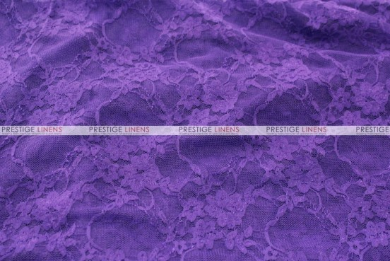 Victorian Stretch Lace - Fabric by the yard - Purple