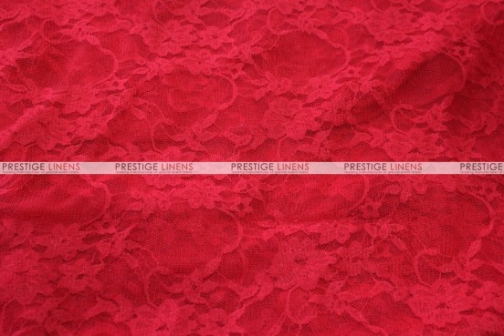 Victorian Stretch Lace - Fabric by the yard - Red