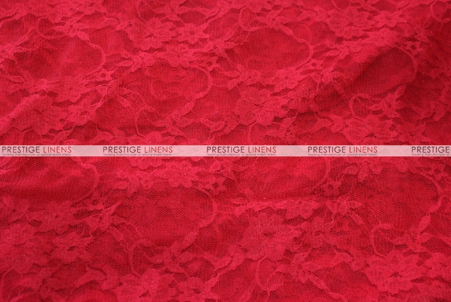 Victorian Stretch Lace Fabric By The Yard Red