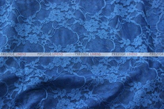 Victorian Stretch Lace - Fabric by the yard - Royal