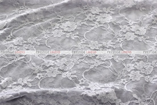 Victorian Stretch Lace - Fabric by the yard - Silver