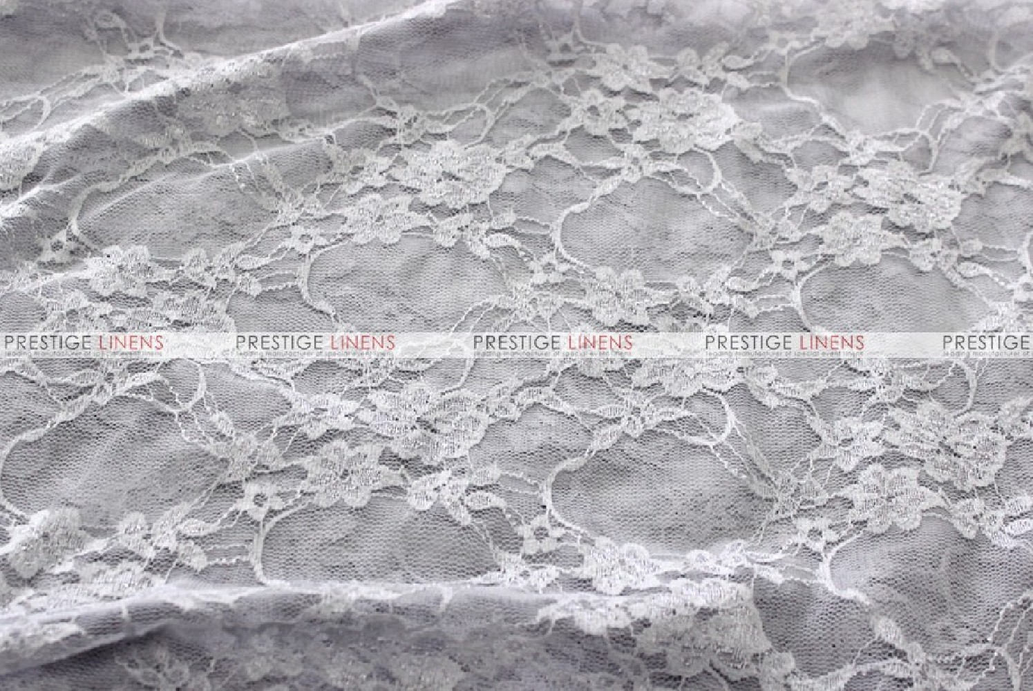 Victorian Stretch Lace Fabric By The Yard Silver