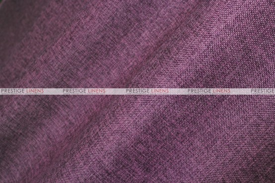 Vintage Linen - Fabric by the yard - Eggplant