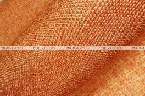 Vintage Linen - Fabric by the yard - Orange