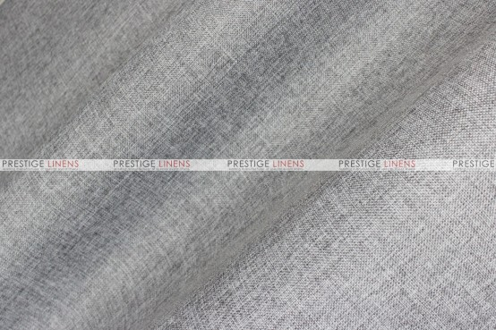 Vintage Linen - Fabric by the yard - Silver