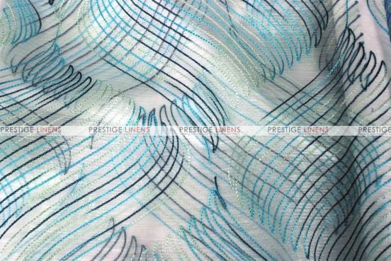Wave Sheer - Fabric by the yard - Aqua