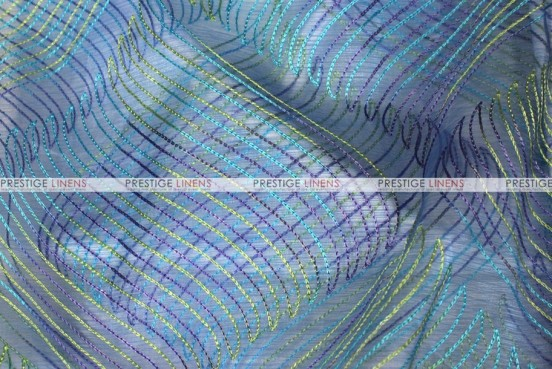 Wave Sheer - Fabric by the yard - Azure