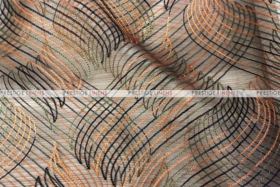 Wave Sheer - Fabric by the yard - Ginger