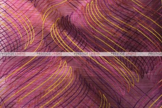 Wave Sheer - Fabric by the yard - Magenta