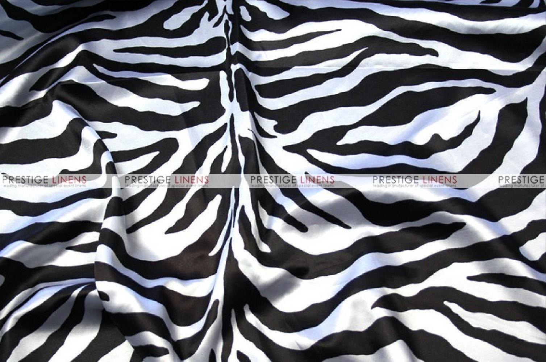 Zebra Print Charmeuse Fabric By The Yard White