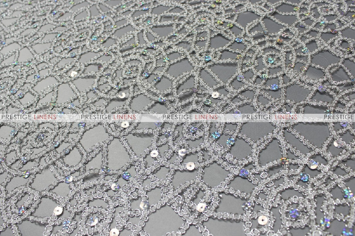... Chemical Lace Table Runner   Silver