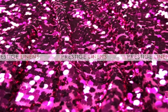 Mesh Sequins Embroidery Draping - Fuchsia
