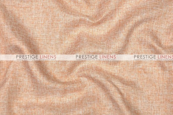 Vintage Linen Table Runner - Peach