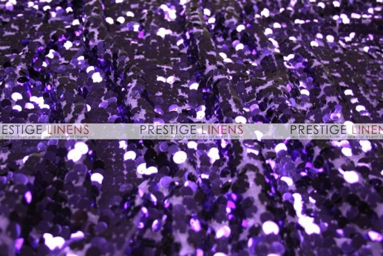 Mesh Sequins Embroidery Draping - Purple